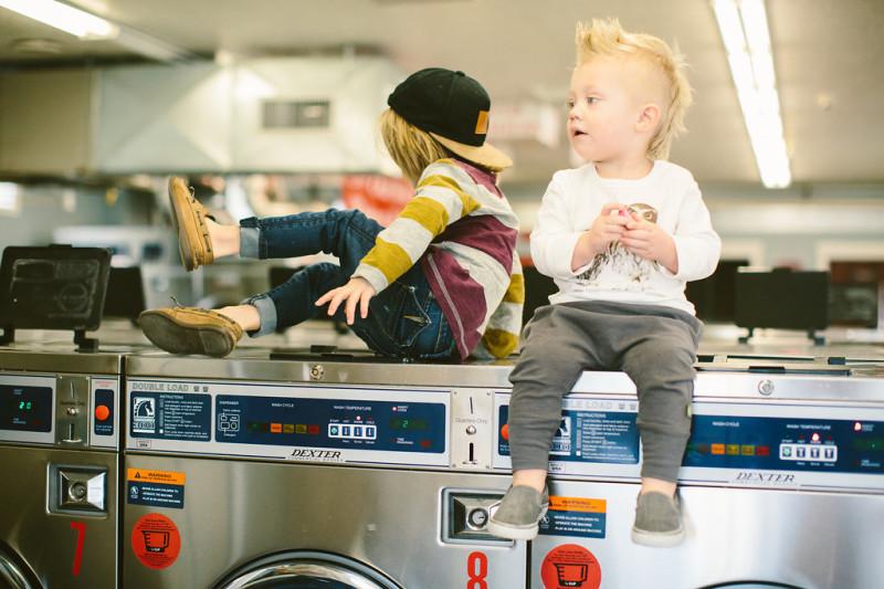Laundromat Family Photos